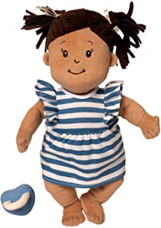 """Manhattan Toy Baby Stella Beige with Brown Hair 15"""" Soft First Baby Doll"""