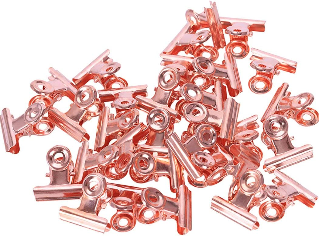 Goeielewe 30PCS Metal Hinge Clips Mail order Bulldog Max 74% OFF Inches Offic 1.5