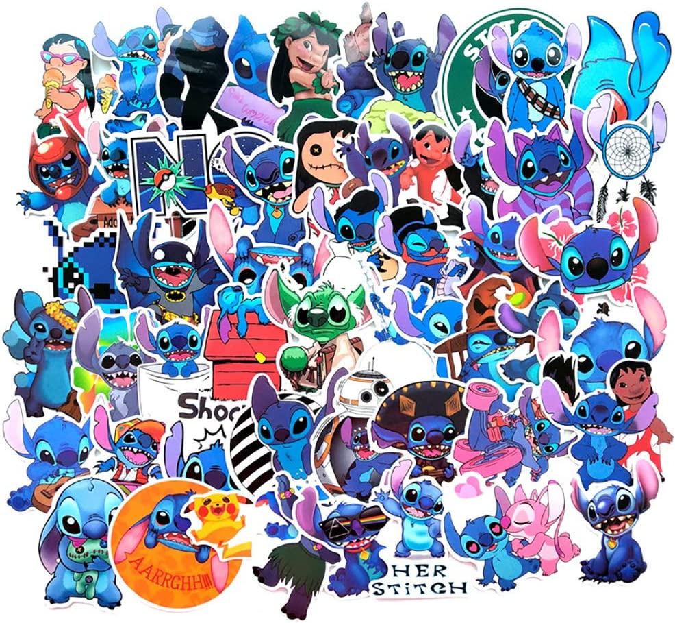 Cute Cartoon Stickers for Lilo Stitch Girls Max 74% OFF Kids Boys Teens Department store to