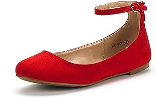 Women's Sole-Nice Ankle Strap Walking Flats Shoes