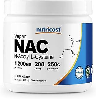 Nutricost N-Acetyl L-Cysteine (NAC) Powder 250 Grams - Vegan NAC, Non-GMO, 208 Servings