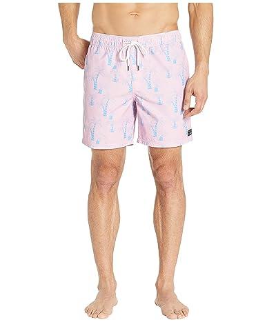 RVCA Program Elastic Shorts (Pink) Men
