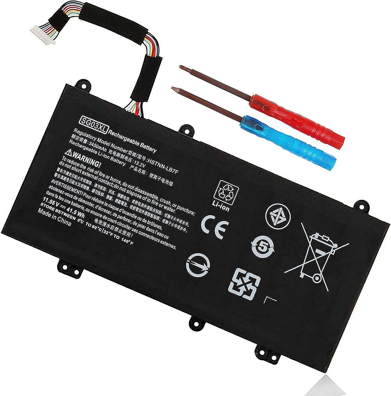 849048-421 SG03XL Battery for HP Envy M7 Notebook M7-u109dx M7-u009dx 17t-u100 17-u100 17-u163cl 17-u177cl 17-u292cl 17-u273cl 17-u275cl 17-u153nr 17-u175nr 849314-856 849314-850 W2K88UA TPN-I126 M7-U