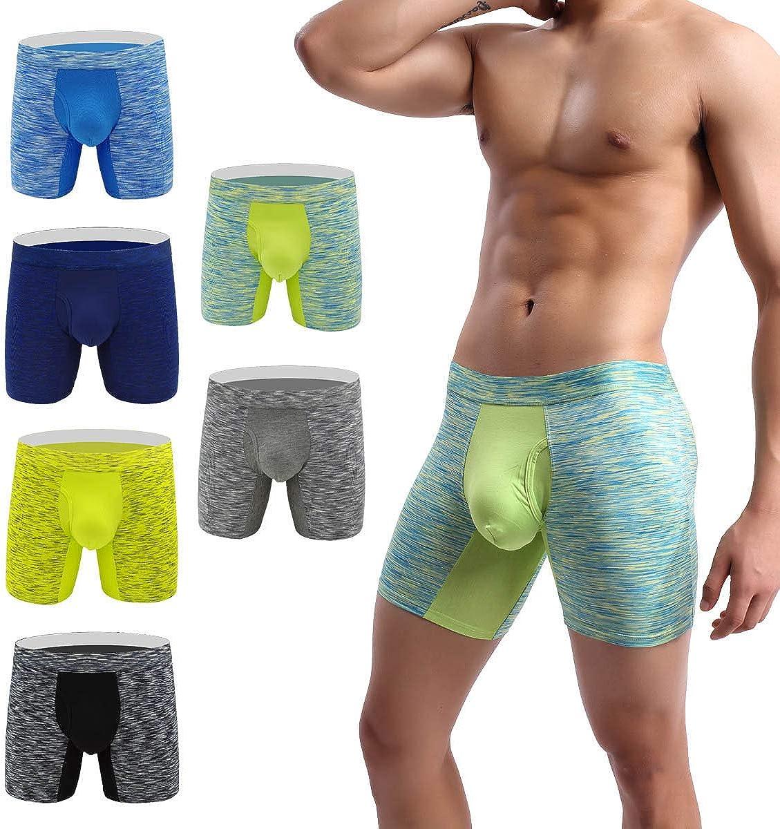 YuKaiChen Men's Pouch Underwear Performance No Ride Up Boxer Briefs