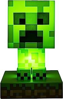 Paladone Minecraft Creeper 3D Icon Light BDP   Offiziell lizenziertes, grünes, pixeliges Nachtlicht oder Schreibtischlampe...