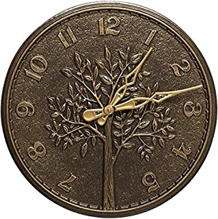 Whitehall Tree of Life 16-In Indoor Outdoor Wall Clock (French Bronze)