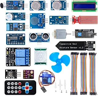 KeeYees Upgraded 20 in 1 Smart Home Sensor Modules Kit for Arduino Raspberry Pi DIY Projects