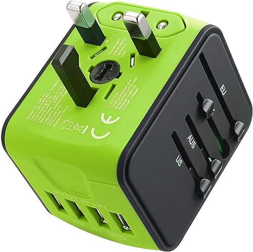 JMFONE International Travel Adapter Universal Power Adapter Worldwide All in One W/Smart High Speed 2.4A 4 USB Perfec...