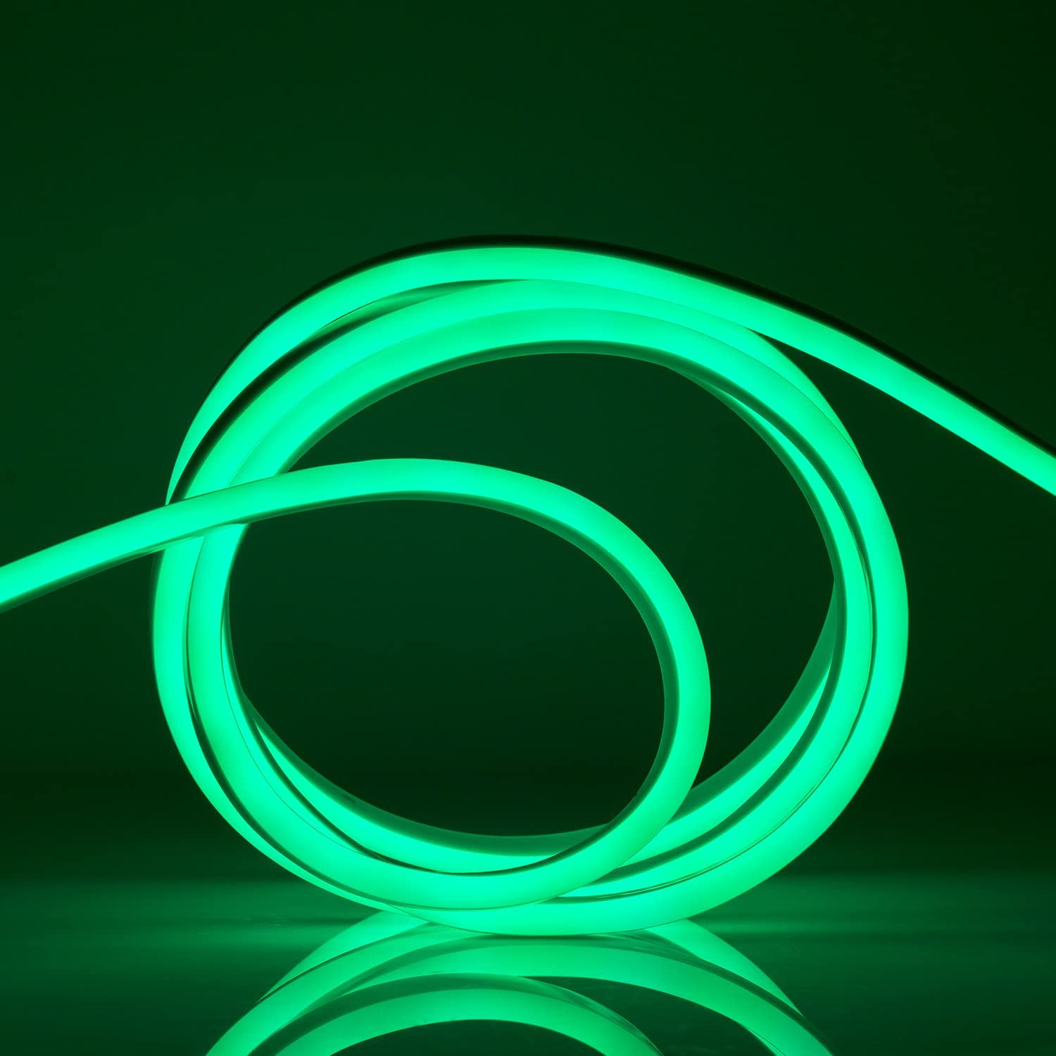 WYZworks Green Flexible Waterproof Soft Side LED Neon Double Rop Al sold out. New York Mall