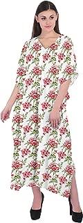 RADANYA Women Bathing Suits Cover Up Floral Print Kaftan Beach Maxi Dress