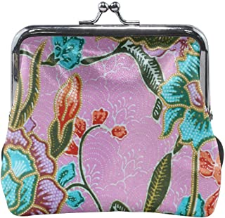 Poream Vintage Style Of Tapestry Flowers Fabric Retro Leather Cute Classic Floral Coin Purse Clutch Pouch Wallet For Girls And Womens