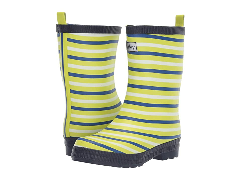 Hatley Kids Limited Edition Rain Boots (Toddler/Little Kid) (Lime Stripes) Boys Shoes