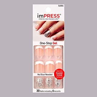 "KISS imPRESS""ROCK IT"" Short French Press-On Manicure Nails by Broadway"