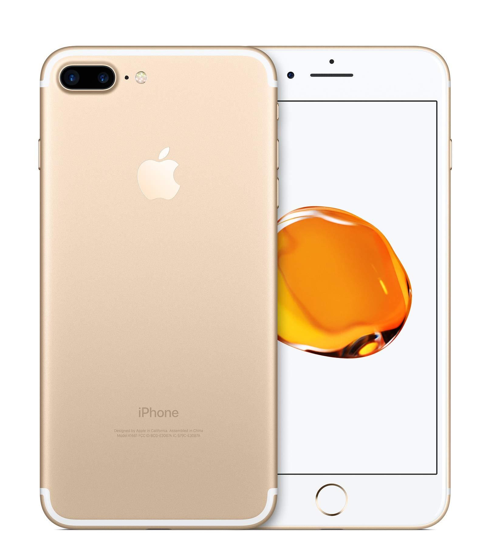 Apple iPhone 7 Plus, 128GB, Gold - Fully Unlocked (Renewed)