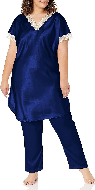 Shadowline Women's Plus-Size Charming Charmeuse Pajama Set