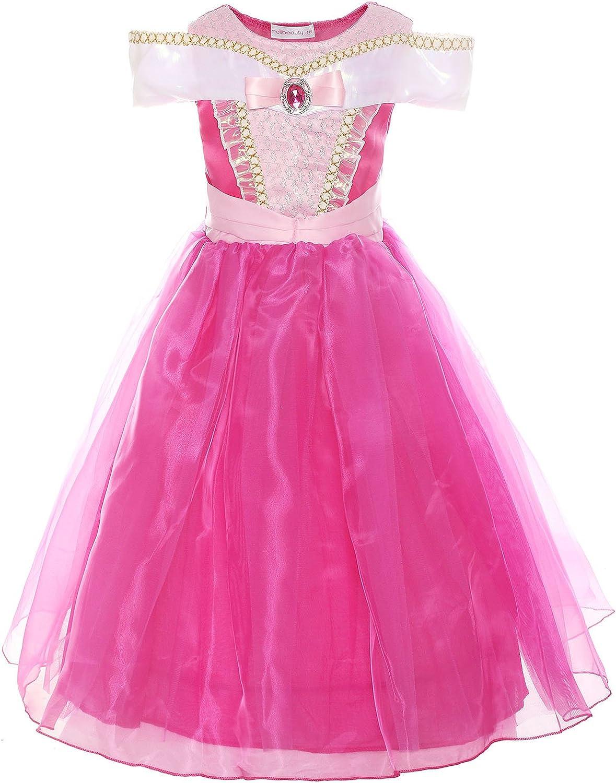 ReliBeauty Girls Drop Shoulder Princess Costume Dress up