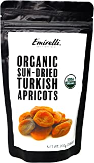 Emirelli Organic Turkish Dried Apricots, Non GMO Vegan Sun-Dried Snacks, No Sugar Added Sunny Fruit, Packed in Natural Res...