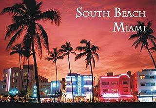 South Beach, Miami, Florida, Miami Beach Souvenir Magnet 2 x 3 Photo Fridge Magnet