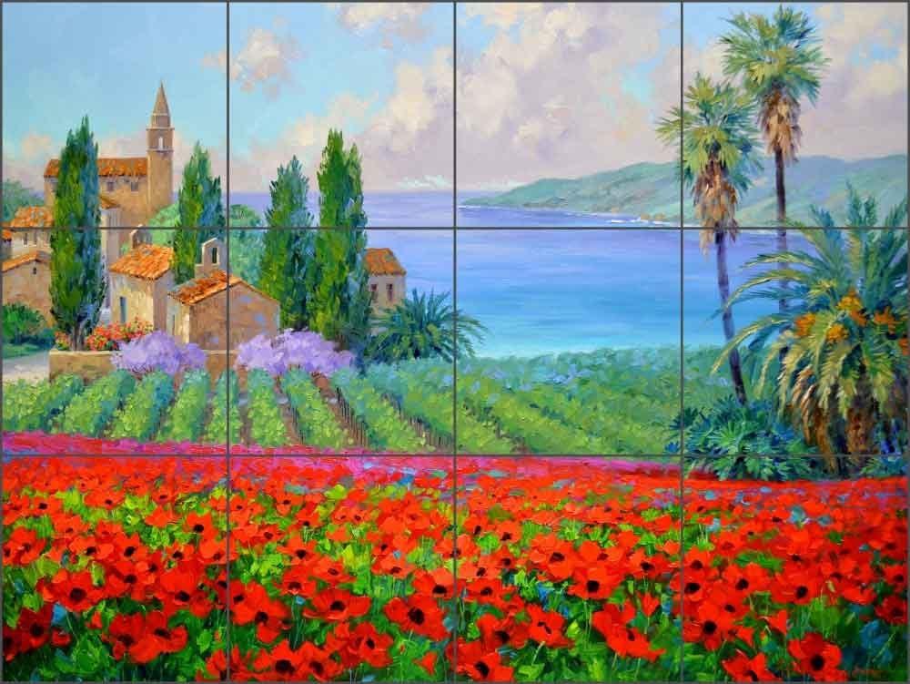 Ceramic Tile Mural Backsplash - Jacksonville Mall Tuscan Red 24 by Ranking TOP14 Senkarik Mikki
