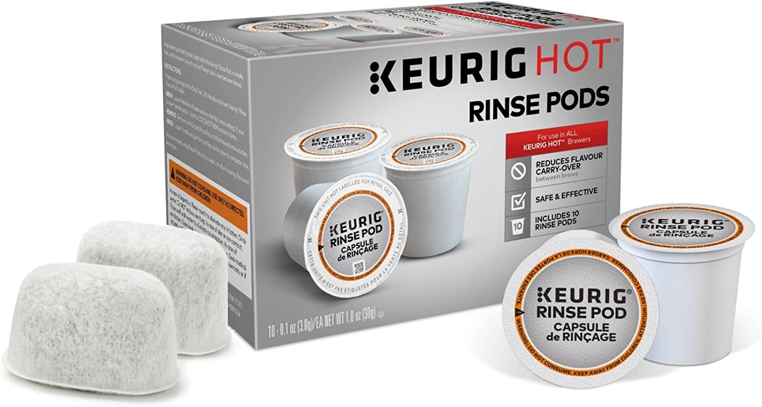 Descaling And Maintenance Kit For Keurig Brewers Includes 10 Keurig Rinse Pods Plus 2 Replacement Filters