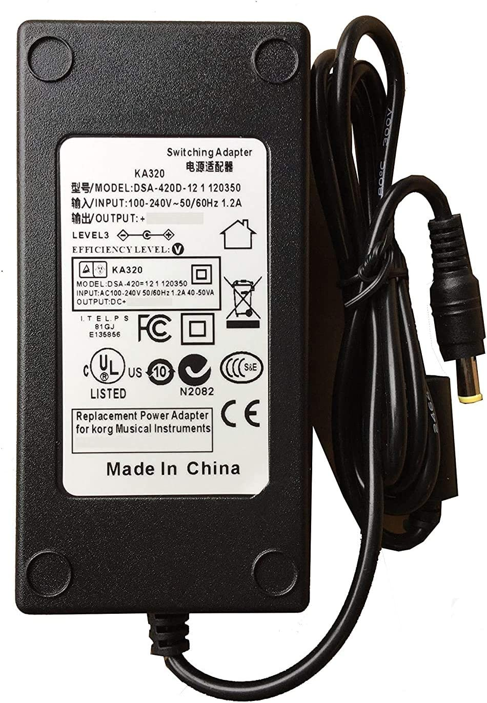 AC Power New mail order Adapter Supply Popular standard for Korg Professional Liverpool Ar