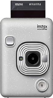 Fujifilm Instax Mini Liplay Hybrid Instant Camera - Stone White