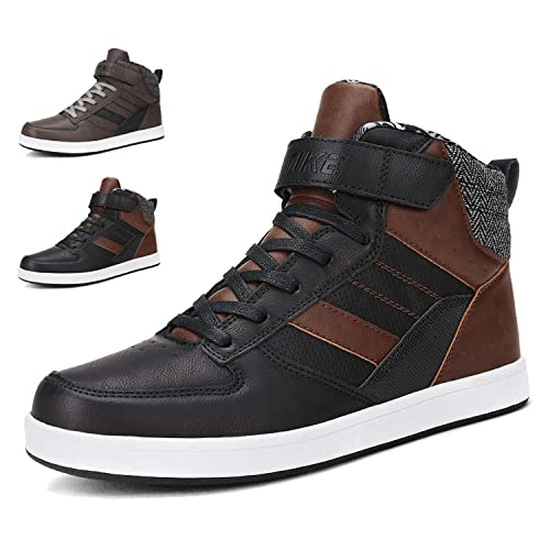 2fb07b7d53ac WETIKE Sneakers Mens Shoes High Top Kids Skate Shoes Slip-on Fashion Boots  Leather Street