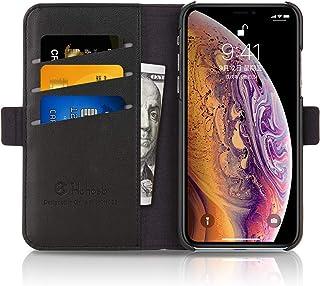 iPhone Xs ケース 手帳型 iPhone XS/X ケース 財布型 サイドマグネット式 カード収納 スタンド機能 高級PUレザー 耐衝撃 アイフォンXs ケース 手帳 カバー 全面保護 耐摩擦 人気 おしゃれ Hohosb( iPhone Xs 用, ブラック)