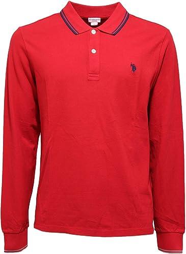 3970K Polo hommes U.S. POLO ASSN. rouge Cotton t-Shirt Man