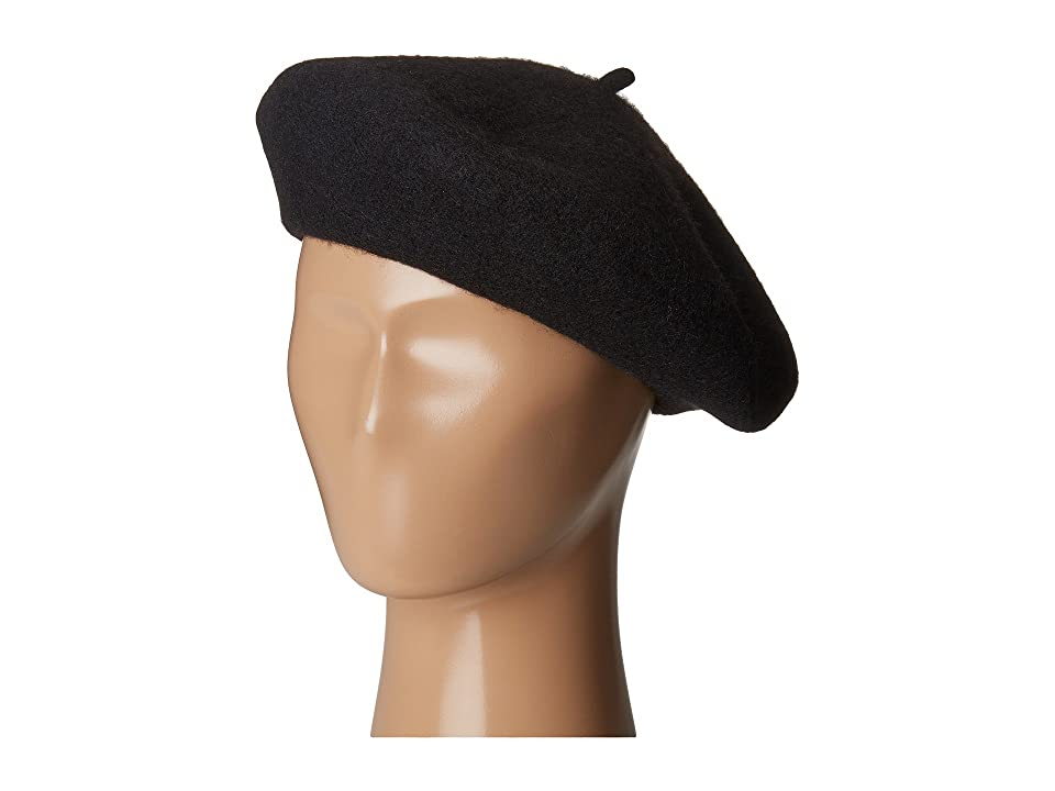 1960s – 70s Style Men's Hats San Diego Hat Company WFB2006 Wool Felt Beret Black Berets $30.00 AT vintagedancer.com