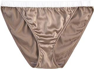 SilRive Women's Satin Bikini Panties Silk Briefs Underpants Shiny Knickers Tanga for Women