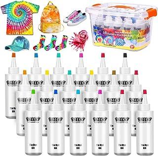 18 Colores Tie Dye Kit 120ML Vibrantes Tintes Para Tejidos Conjunto Tinte Tie de un Solo Paso Camisa Tela Tinte Duministro...