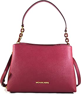 193488aee7e2 Michael Kors Sofia Large East West Saffiano Leather Satchel Crossbody Bag  Purse Tote Handbag