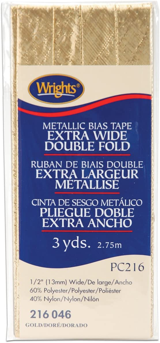 Wrights 117-216-046 Double Fold 2021 Lame 3-Yard Large-scale sale Tape Bias Gold