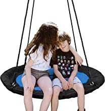 """SUPER DEAL 40"""" Waterproof Saucer Tree Swing Set - 360 Rotate° - Attaches to Trees or Existing Swing Sets - Adjustable Hang..."""