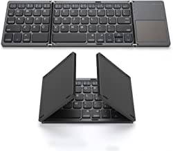 Foldable Bluetooth Keyboard, Jelly Comb Pocket Size Portable Mini BT Wireless Keyboard with Touchpad for Android, Windows,...