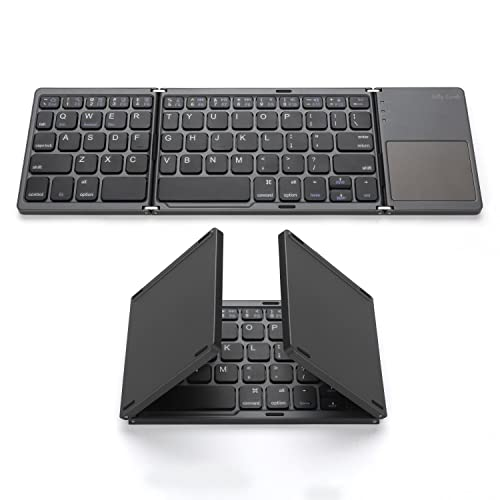 e5dc30e3c6e Foldable Bluetooth Keyboard, Jelly Comb Pocket Size Portable Mini BT Wireless  Keyboard with Touchpad for