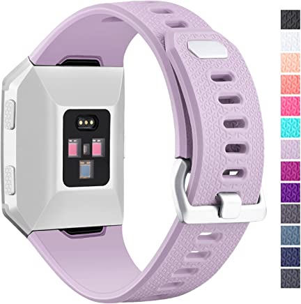 Hotodeal Band Compatible Fitbit Ionic Bands Waterproof,Replacement Sport Strap Accessory Wristbands Smartwatch, 13 Classic Colors Small Large