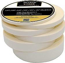 MEEDEN Masking Tape White, 0.23/0.35/0.47/0.59/0.79/1.18 Inch×55Yard, 6 Rolls Assorted Sizes Strong Masking Tape, Each 55 ...