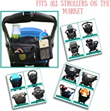 Stroller Organizer Bag Universal 3 in 1 Diaper Bag by Lumont, Fits All Single and Double Strollers, Best Parent Accesory Bag with Insulated Cup and Bottle Holders