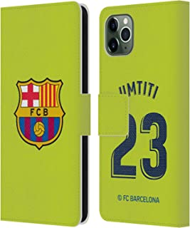 Official FC Barcelona Samuel Umtiti 2018/19 Players Away Kit Group 2 Leather Book Wallet Case Cover Compatible for iPhone 11 Pro Max