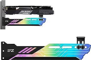 EZDIY-FAB 汎用ビデオカードホルダー GPUブレースサポート 5V 3PIN グラフィックカードを固定する ARGB LEDライト、ビデオカードサグホルダー/ホルスターブラケット-309-1