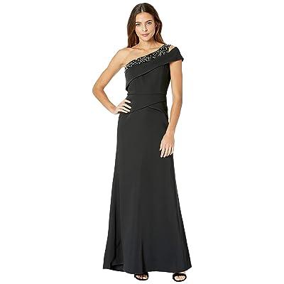 BCBGMAXAZRIA Annely One Shoulder Gown (Black) Women