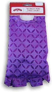 Holiday Time Purple Glittery Miniature Christmas Tree Skirt - 18 Inch