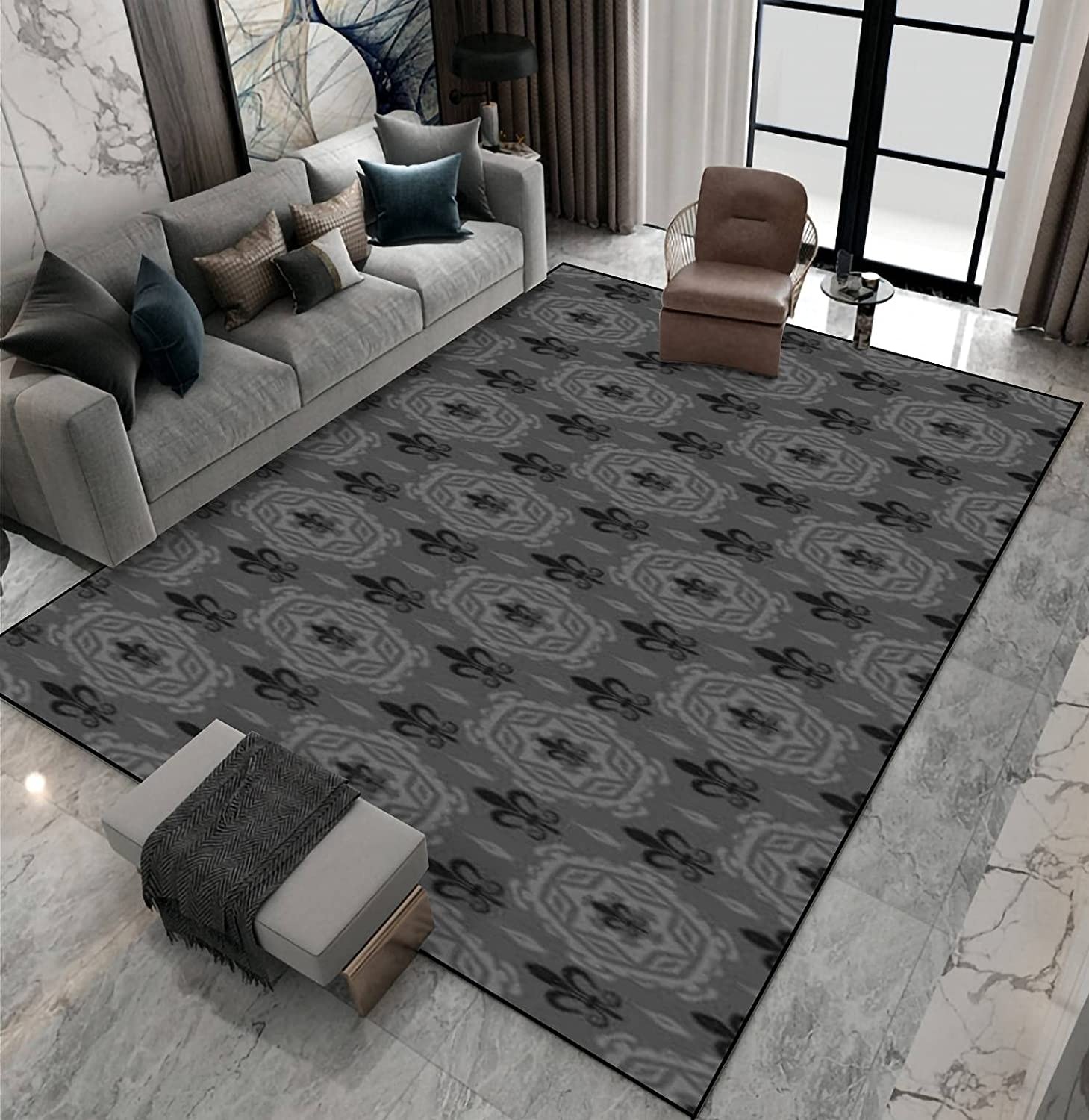 Area Rug Non-Slip Floor Cheap mail order specialty Luxury store Mat with Pattern Shad Background Vintage