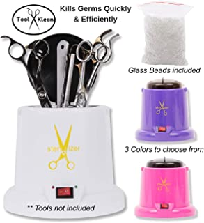 Tool Klean Anti-Microbial Hot Cup White, (1) Bags of Glass Beads, EPA/FCC Compliant, Heats to 212 Degrees F in 15 min, 3 min to Kill Germs, Indicator Light, sterilizer, disinfect, machine, tools