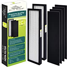 White Kaiman Premium True HEPA Air Filter C Replacement w/Carbon Pre-Filters for Dust & Allergy Elimination Compatible for GermGuardian FLT5000 Models AC5000, AP2800CA, BXAP250, IAP-GG-125 (2 Pack)