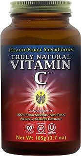 HealthForce SuperFoods Truly Natural Vitamin C Powder - 105 Grams - All Natural Acerola Cherry Based Vitamin C Supplement - Vegan, Gluten Free - 30 Servings