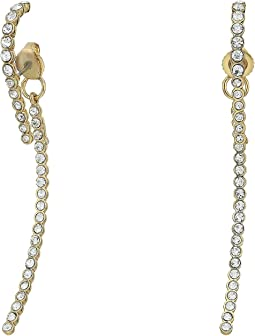 Vince Camuto Pave Linear Lobe Earrings