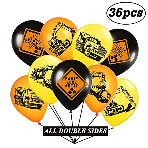 Construction Birthday Party Balloons